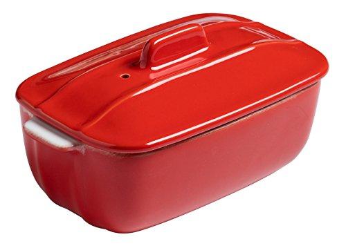 Pyrex 8013100 Signature Terrine Rectangulaire à Four Rouge en Céramique 16 X 10 cm