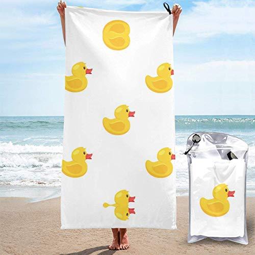 Toallas de Playa sin Arena Pato Amarillo Toallas de Playa de Secado rápido Toalla de baño Toalla de Playa de Viaje, Toalla Deportiva de natación al Aire Libre para Mujeres Hombres Accesorios de Playa