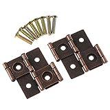 ZXCVB 2 uds 180 Grados de rotación bisagras para Muebles gabinete cajón Caja de joyería bisagra Puerta bisagras Decorativas herrajes para Muebles 45 * 42mm