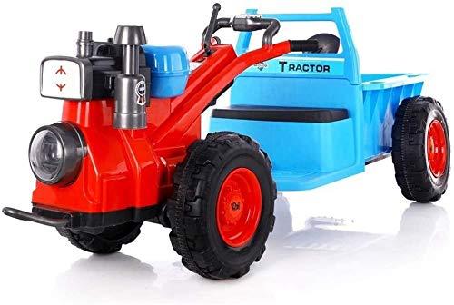 Ferngesteuertes Autospielzeug Elektrisches Allrad-Autospielzeug für Kinder Kann Menschen sitzen Auto-Traktor Doppelantrieb Kann sitzen Selbstfahrendes Spielzeug Kinderwagen Walker-Traktor mit Ladekor