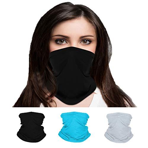 Headgear mask Outer Riding Turban Neck Guard Dust Mask, Face Scarf Mask Dust Mask (Black,Light Blue,Gray)