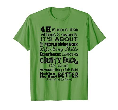 4-H shirt Is more than ribbons, County Fair Memories Skills T-Shirt