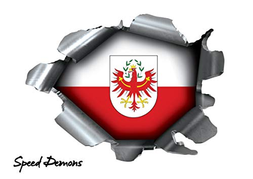 BITS4REASONS Speed Demons Pride Burst Rip Torn scheurvastheid sticker grafiek, zelfklevend, voor elk oppervlak incl. laptops en auto's, Duitse vlag