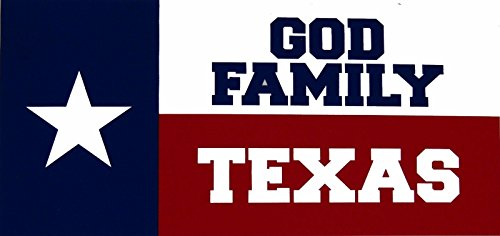 ALBATROS (6 Pack) God Family Texas Lone Star State Decal Bumper Sticker for Home and Parades, Official Party, All Weather Indoors Outdoors