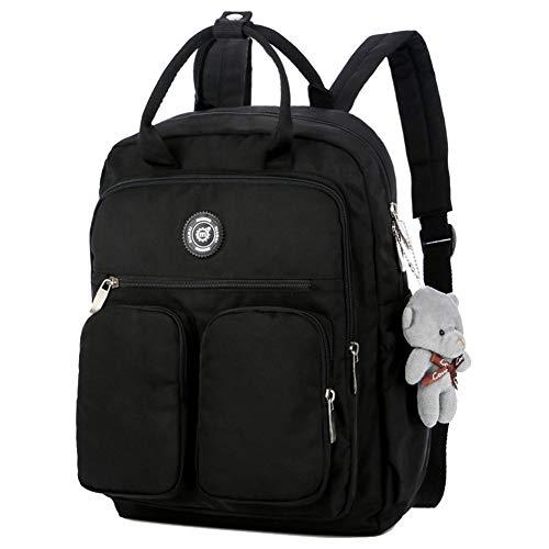 Majome Zaino da Donna Multi-Tasca Grande capacità Impermeabile da Esterno Viaggio Scuola, Large Backpack per Ragazze (Nero)