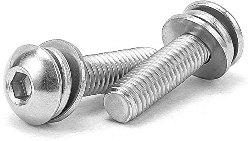 KEKEYANG Bolt Combination Stainless Max 53% OFF Steel Round Challenge the lowest price 304 Head Hexagon