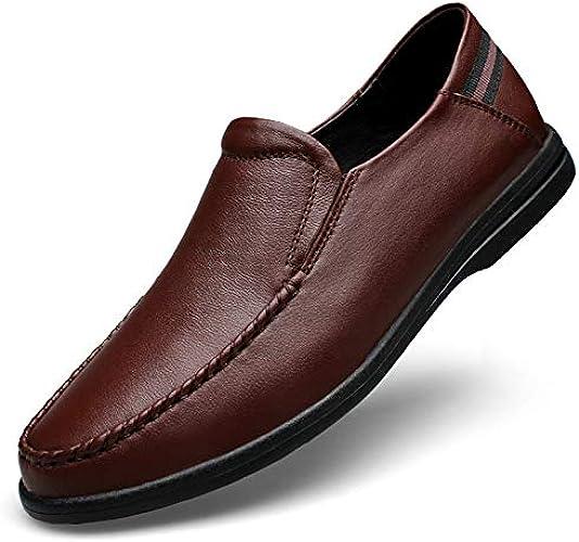 LOVDRAM Hommes Chaussures Toe Cuir Chaussures Hommes Pied Chaussures Lok Fu Chaussures Hommes Pois Chaussures Chaussures Hommes Grande Taille Chaussures 37-46 Mètres