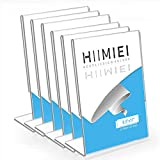sign holder upright - HIIMIEI Acrylic Slant Sign Holder 8.5x11 6 Pack, Plastic Table Menu Display Stand Holder, Plexi Single Ad Frame for Restaurants,Hotels,Stores