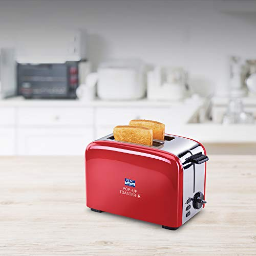 KENT 16030 850 Watts Pop-Up Toaster, Red