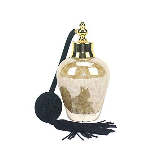 ZLSP 60 ml Estilo de la Vendimia Claro Botella de Perfume del Oro a Largo Pulverizar Las borlas del atomizador Recargable Bomba Botellas de Cristal del Maquillaje Herramienta