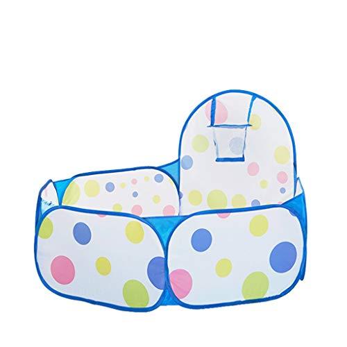 Tents Blue Ball piscina con puntos de colores, juego de bolas para niños para interior y exterior, pelota pop-up – Edad aplicable: 6 M + (color: azul)