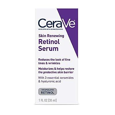CeraVe Anti Aging Retinol Serum | 1 Ounce | Cream Serum for Smoothing Fine Lines and Skin Brightening | Fragrance Free by AmazonUs/RSLS7
