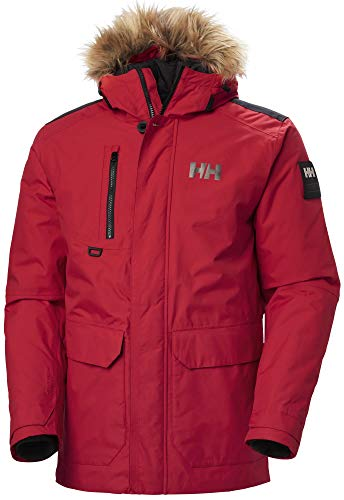 Helly Hansen Herren Svalbard Parka Jacke, Rot, L