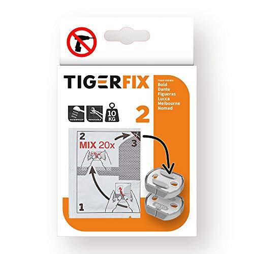Tiger Tigerfix Klebesystem Nr. 2, zur Befestigung von Badaccessoires ohne bohren