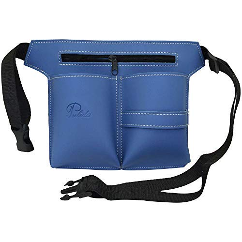 Kappers Zakje Riem Professionele Multifunctionele Make-up Tool Tas Salon Holster Haar Schaar Kit Tas Schoren Borstels Opslag Blauw