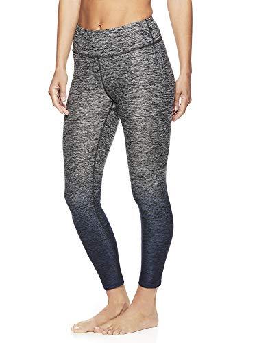 Gaiam Women's Capri Yoga Pants - Performance Spandex Compression Legging - Graystone Grey, X-Small
