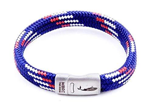 Robustes Armband im maritimen Look - Surferseil - Gewebearmband aus 100% recyceltem Kunststoff - Edelstahl - Nautische Parakord-Schnur - Herren & Damen - Langlebig (Super Surfer, 20)