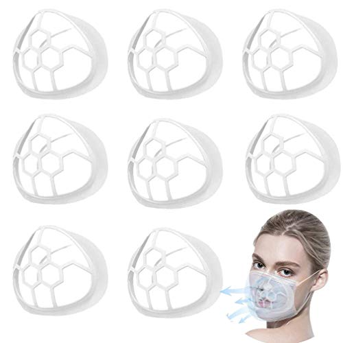 LQWY 【20PCS 3D Mask Bracket Kids Adult Inner Support Bracket for Mask Support Frame Silicone Mask Wearing More Space for Comfortable Breathing Washable Reusable