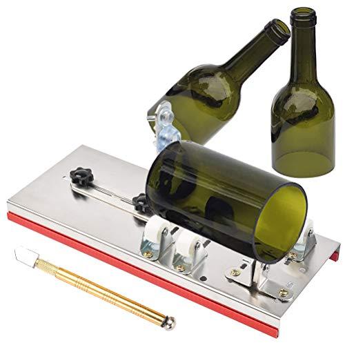 QLOUNI Glasschneider für Flaschen, Flaschenschneider aus Edelstahl, Runde Bottle Cutter, Glasflaschenschneider zur DIY der Glas Kerzenständer, Kronleuchter