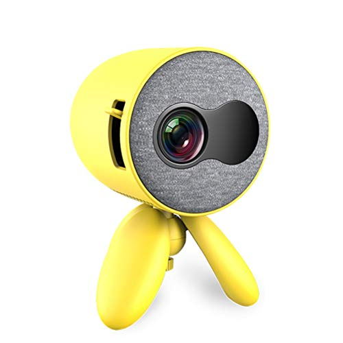 Phone Projector, 480*272 Support Mobile Phone 1080P HDMI Video Beamer Home Cinema ( Color : Yellow )