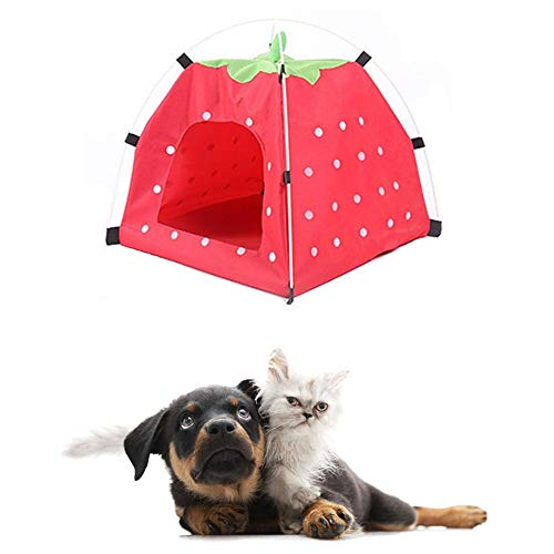shuxuanltd Dog Tent Cat Tent Pet Tent Puppy House Indoor Dog House Pop Up Dog Tent Dog Kennel Outdoor Cat Tents For Indoor Cats Dog Sun Shade Outdoor Dog Bed red