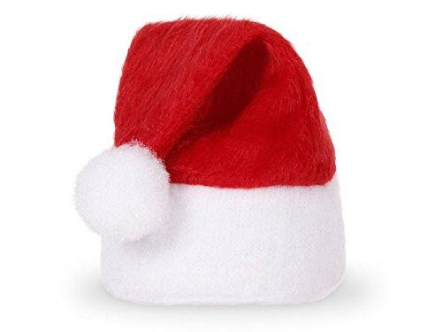 Alsino Mini Weihnachtsmütze kleine Weihnachtsmützen (wm-133) - Eierwärmer für Stuhlecken, Eier & Flaschen - Deko-Weihnachtsmützen (6 Stück)