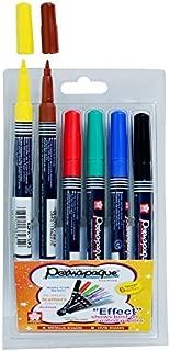 Sakura Permapaque Fine Point Opaque PigmentT Permanent Marker - Set of 6 shades - Vivid colors - A