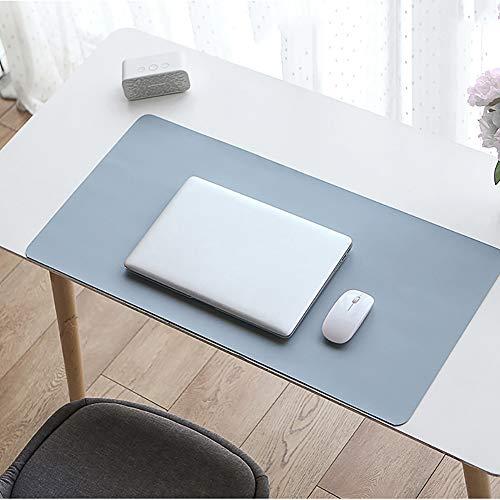 JYMBK Große Leder Gaming Mauspad,Schreibtisch Blotter Matte,erweiterte Wasserdicht Schreibtischunterlage,Tastatur Mousepad,Laptop Büro Startseite Mausmatte Hellblau 80x40cm(31x16inch)