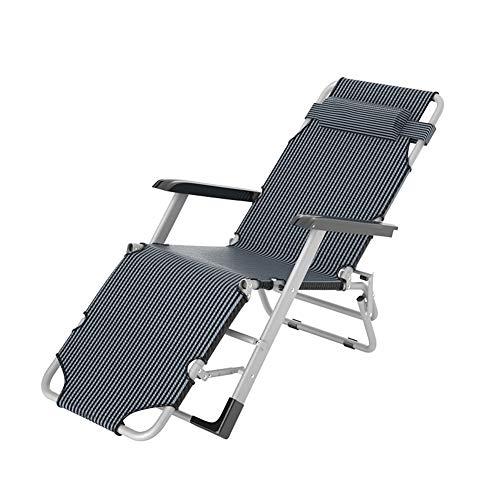 Zero Gravity Chaises de jardin Chaise longue, Patio extérieur Sun Chaises longues avec Oreiller pliant Chaises longues de pont (Color : A)