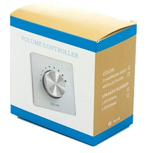50W 2 Way stereo impedantie luidspreker muur volume controller gezicht plaat, zilver