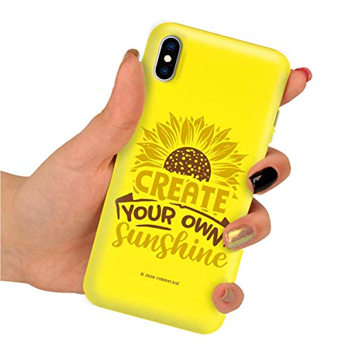 Funnycase Yellow Smooth Sunflowers - Carcasa para iPhone 7/8/SE2 (caucho)