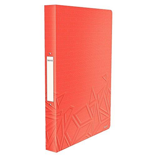 Leitz, Ringbuch, Für bis zu 140 Blatt A4, 2,6 cm Rückenbreite, PP, Rot, Urban Chic, 42610024