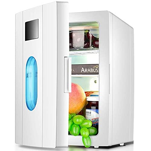 RTRD 10l Mini-Kühlschrank, eintür tragbare Kühlschrank Kühlschrankkühlheizung wenig Kühlschrank Geeignet für Auto-Dorm-Büro-Familie -weiß
