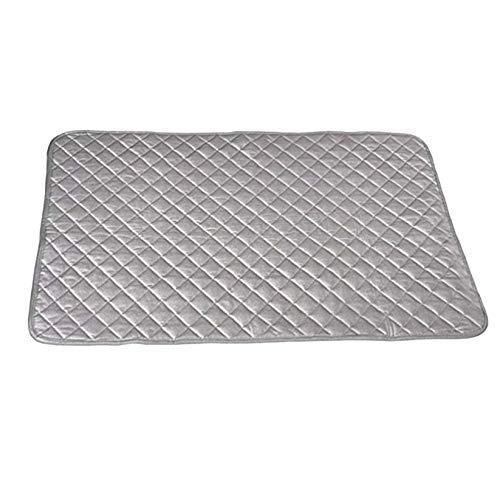 PLENTOP Ironing Blanket, Magnetic Mat Laundry Pad, 33×18'', Gray, Washer Dryer Heat Resistant Pad, Iron Board Alternative Cover Iron Board Mat (Gray)
