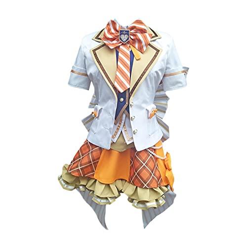 ULLAA Anime Kousaka Honoka Cosplay Love Live School Idol Project vestido azul lovelive Awakening idolatrado uniforme de policía disfraz XL naranja