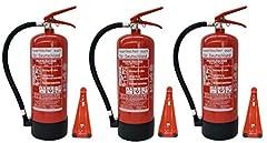 6 kg GAśnica proszkowa ABC NEW Oryginalna klasa ognia abc, EN3, manometr, inkardię pomiarowa + zawór bezpieczeństwa (z plastikowym stojakiem z uchwytem na ścianę bez certyfikatu badania i roczną pieczęcią)