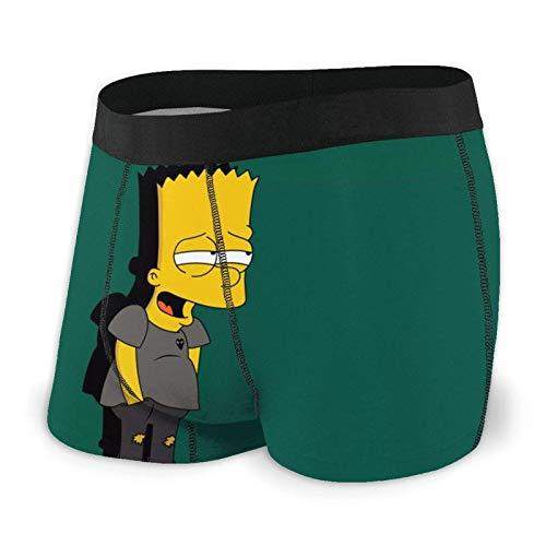 DWEO0JDWK The Simpsons Cartoon Herren Cotton Boxershorts 2 Pack-X-Large Black