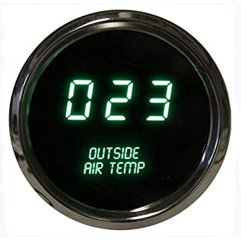 Intellitronix Corp LED Digital Outside Air Temperature Gauge 2 1/16  0 to 250 Degrees F° w/Chrome Bezel  Sender Included