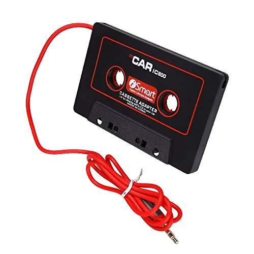 Stebela Cassette del Coche Adaptador de 3,5 mm AUX Conector Macho Cinta de Casete del Coche Converter para Reproductor de CD MP3