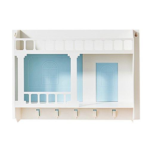 Wubing väggdekoration spikfri vägghängande förvaring sänggavel vägg hylla fri stansning badrumshylla