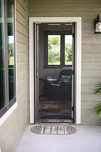 Brisa White Retractable Screen Door 80' Single