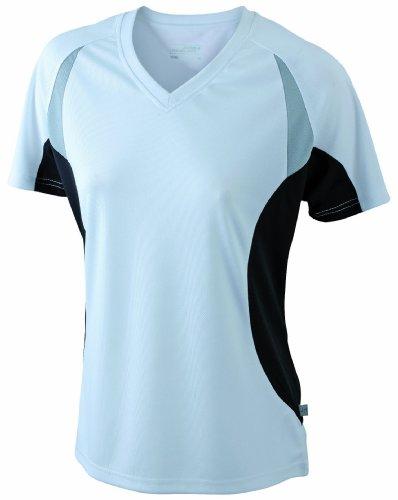James & Nicholson Damen T-Shirt Running T XX-Large white/black