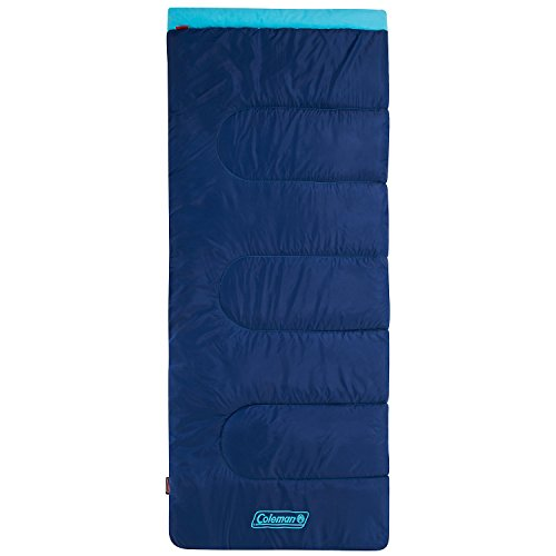 Coleman Schlafsack Heaton Peak, Deckenschlafsack Camping, leichter Sommerschlafsack, Outdoor und Indoor nutzbar, Komforttemperatur +8° C, 205 x 85 cm