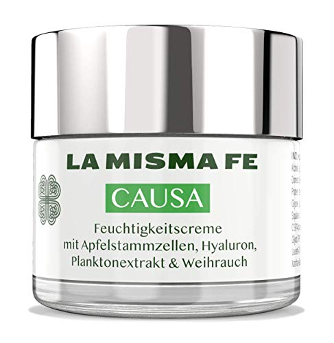 LA MISMA FE® Causa Apfelstammzellen Hyalorunsäure Gesichtscreme Gesichtspflege Antiaging Creme Tagescreme Glastiegel 50ml - High End Kosmetik Made in Spain