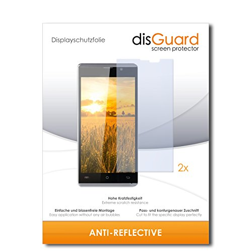 disGuard® Bildschirmschutzfolie [Anti-Reflex] kompatibel mit Cubot P11 [2 Stück] Entspiegelnd, Matt, Antireflektierend, Extrem Kratzfest, Anti-Fingerabdruck - Panzerglas Folie, Schutzfolie
