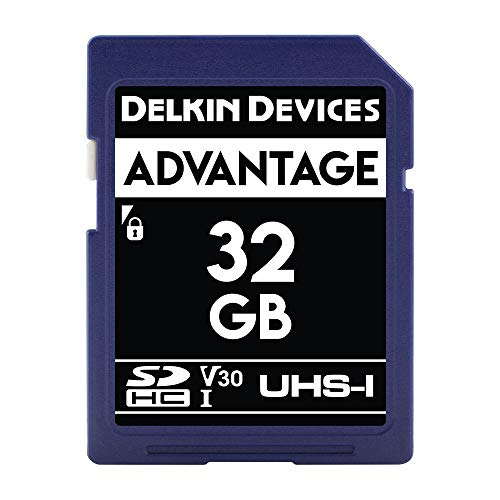 Delkin Devices 32GB Advantage SDHC UHS-I (U3/V30) Memory Card