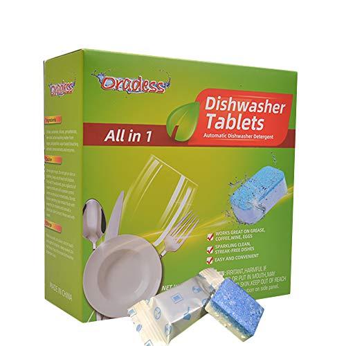 MJTP Tabletas para lavavajillas, detergente para lavavajillas de Fregadero, 30 tabletas