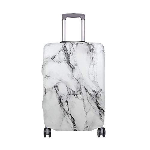 ALINLO Abstract Marble Print Watercolor Luggage Cover Baggage Suitcase Travel Protector Fit for 18-32 Inch