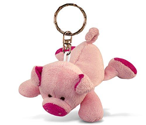 Puzzled Pig Plush Keychain Stuffed Animal Toy - Soft Fur Farm Life Animal Pink Pig Charm Keyring  Cute Decorative Plush Toy Accessory Fun Buddy for Kids Bag  Purse  Backpack  Handbag - 4 Inches