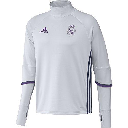 adidas Real Madrid CF TRG Sudadera, Hombre, Blanco   Morado, S